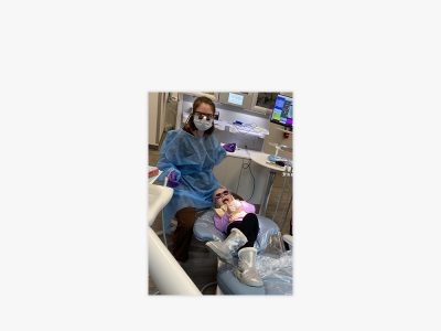 dentist with a child patient